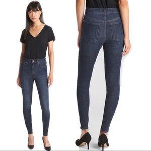 High Rise True Skinny Stretch Jeans